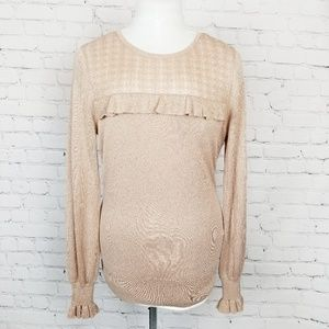 White House Black Market|Blush Ruffle Sweater